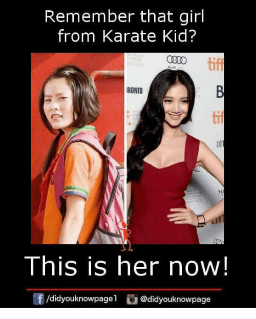 remember that girl from karate kid ronto tif te this 27717126 ✅ 25 best memes about karate kid karate kid memes