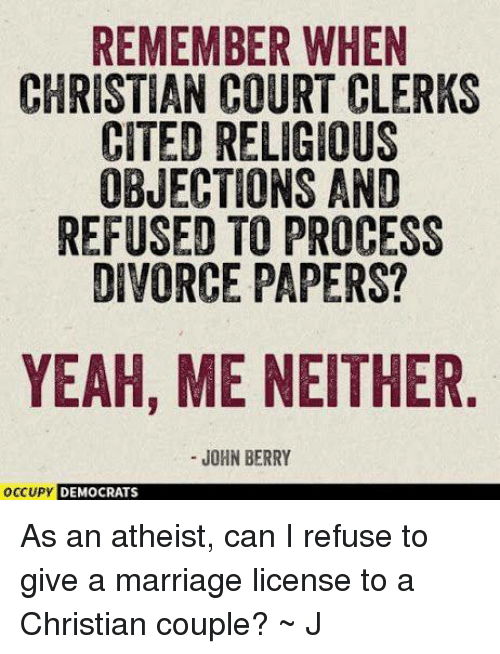 remember when christian court clerks cited religious objections and refused 5662002 remember when christian court clerks cited religious objections and