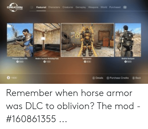 Remember When Horse Armor Was DLC to Oblivion? The Mod - #160861355