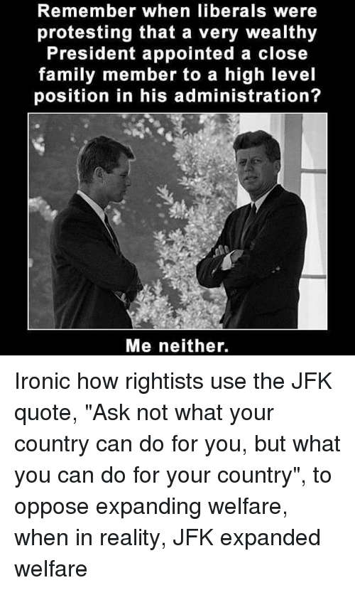 jfk welfare