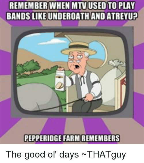 REMEMBER WHEN MTV USED TO PLAY BANDS LIKE UNDEROATH AND