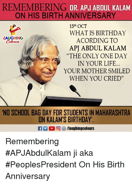 Birthday Wishes Apj Abdul Kalam Birthday Wishes