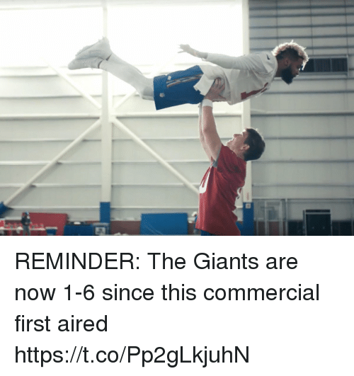 Football, Nfl, and Sports: REMINDER: The Giants are now 1-6 since this commercial first aired https://t.co/Pp2gLkjuhN