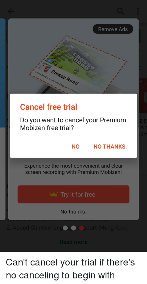 Remove Ads Cancel Free Trial Do You Want to Cancel Your