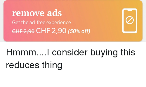 Free Experience And Chf Remove Ads Get The Ad Chf299