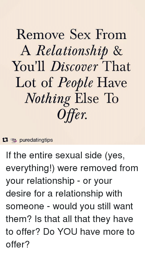 Do you need sex in a relationship
