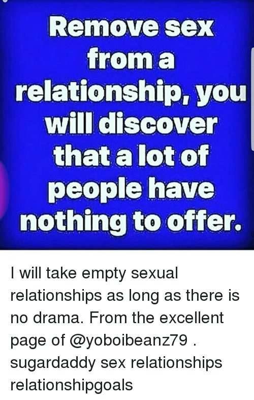 No sex in the relationship