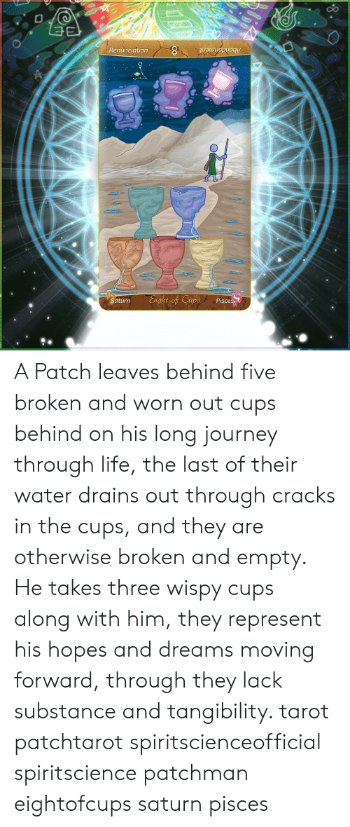 Renunciation 8 Auuuopuogt Aturn Eight of Cups Pisce a Patch Leaves