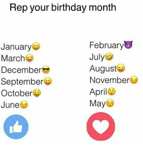 Birthday Memes And April Rep Your Birthday Month February January July March August