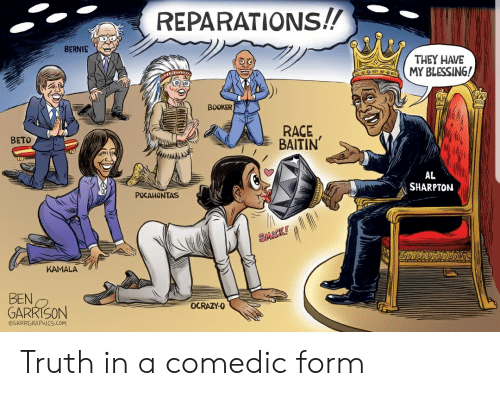 REPARATIONS!! BERNIE THEY HAVE MY BLESSING! BOOKER RACE