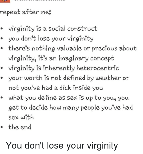 Sorry, that sex decide virginity