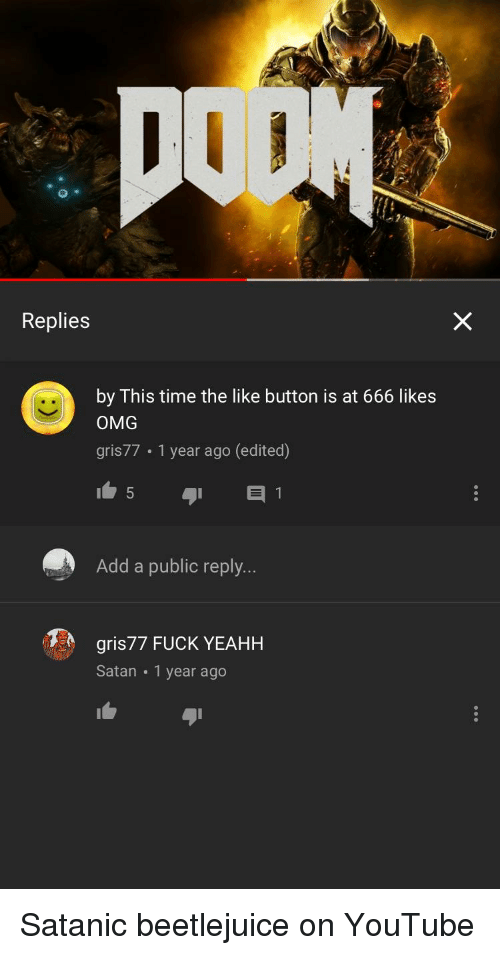 Replies by This Time the Like Button Is at 666 Likes OMG Gris77 1