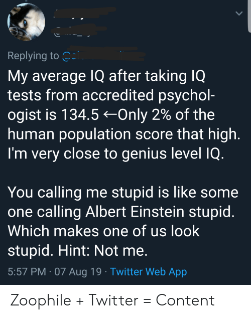 Replying to My Average IQ After Taking IQ Tests From