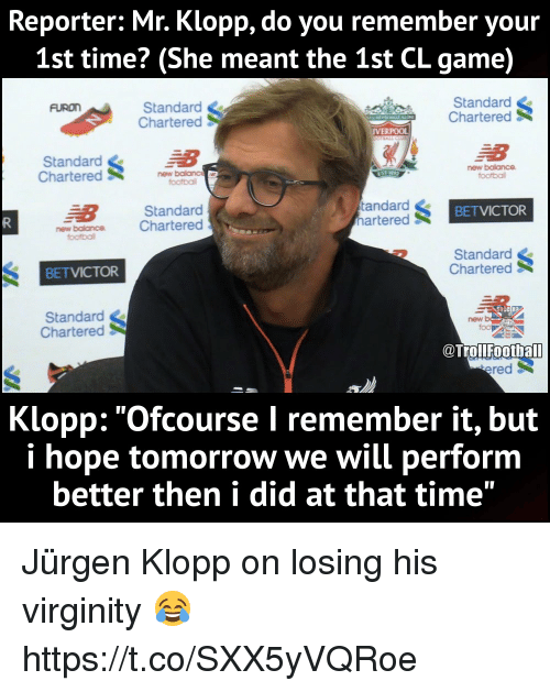 reporter mr klopp do you remember your 1st time she 27306071 ✅ 25 best memes about new balance new balance memes