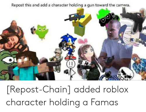 Repost This And Add A Character Holding A Gun Toward The Camera