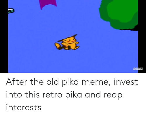 Meme, Old, and Invest: RERET After the old pika meme, invest into this retro pika and reap interests