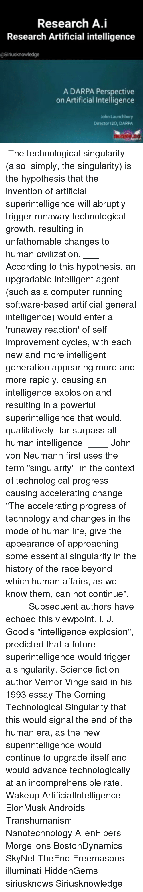 a essay on superintelligence Ethical guidelines for a superintelligence ernest davis dept of computer science new york university new york, ny 10012 davise@csnyuedu october 23, 2014.