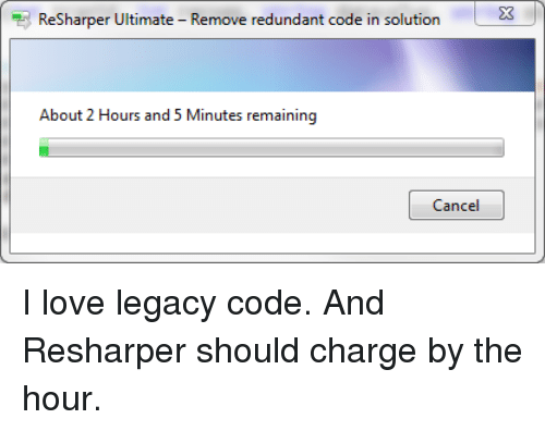 ReSharper Ultimat Remove Redundant Code in Solution About 2 Hours