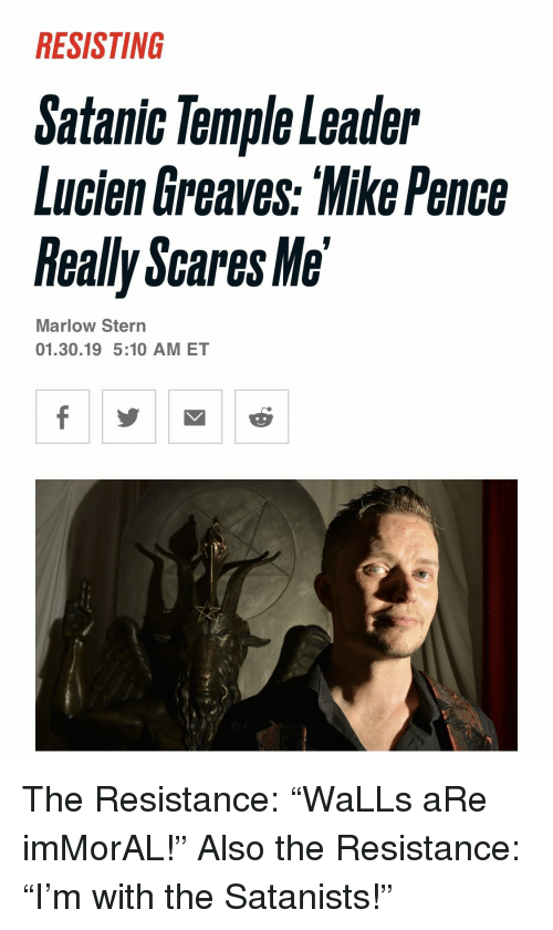 RESISTING Satanic Temple Leader Lucien Greaves Mike Pence Really