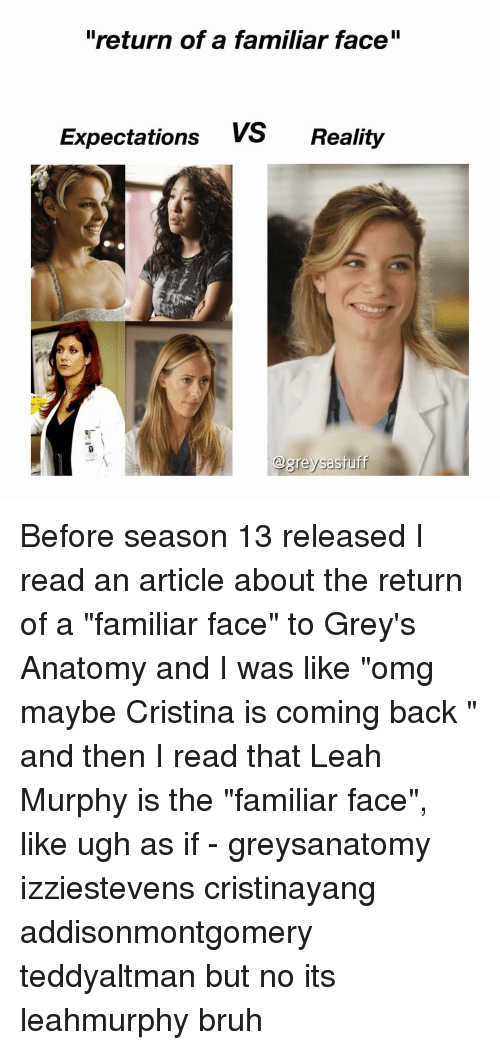 Return of a Familiar Face Expectations vs Reality Before Season 13 ...
