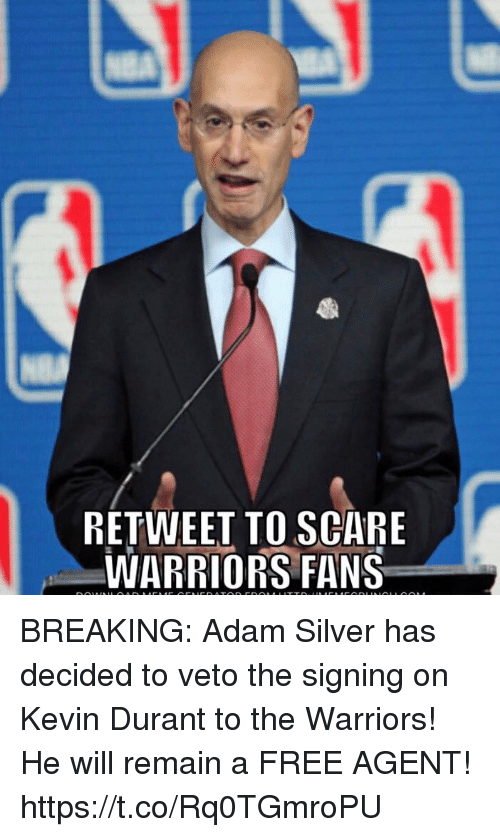 c89da2151dd RETWEET TO SCARE WARRIORS FANS BREAKING Adam Silver Has Decided to ...