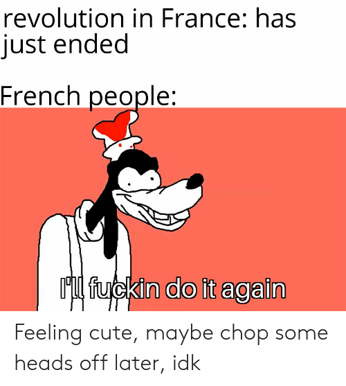 Revolution in France Has Just Ended French People Ml Fuckin