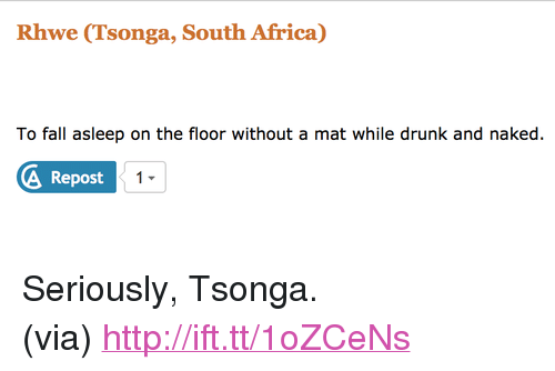 5d4ccb451 Rhwe Tsonga South Africa to Fall Asleep on the Floor Without a Mat While  Drunk and Naked Repost <p>Seriously Tsonga<br> via <a ...