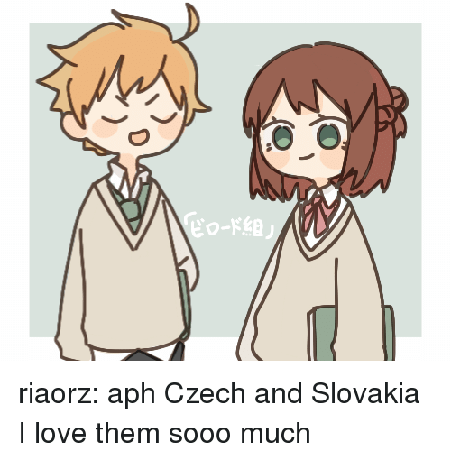 Love, Target, and Tumblr: riaorz:  aph Czech and Slovakia  I love them sooo much