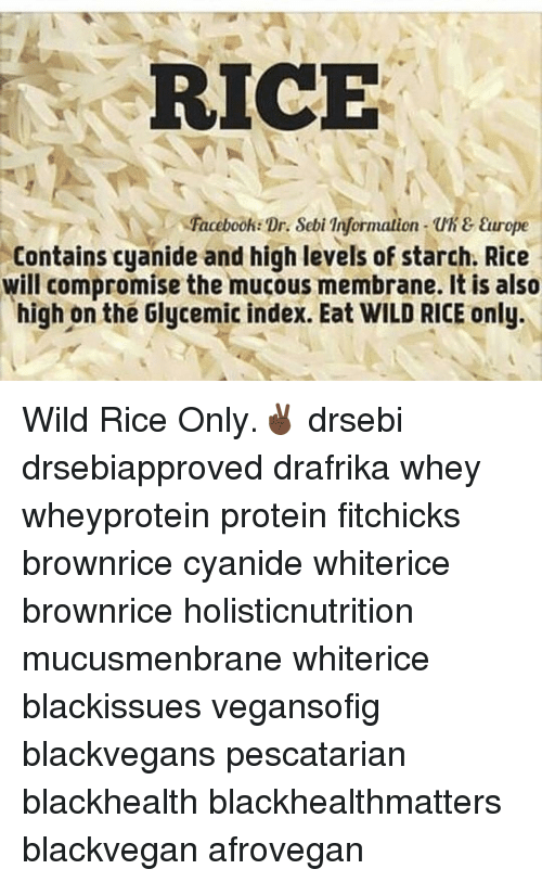 RICE Facebook Dr Sebi on Uh & Europe Contains Cyanide and