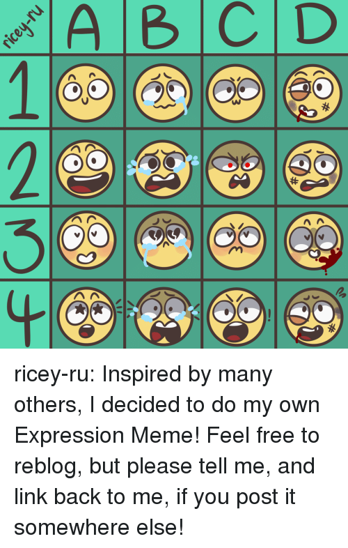 Meme, Target, and Tumblr: ricey-ru:  Inspired by many others, I decided to do my own Expression Meme! Feel free to reblog, but please tell me, and link back to me, if you post it somewhere else!