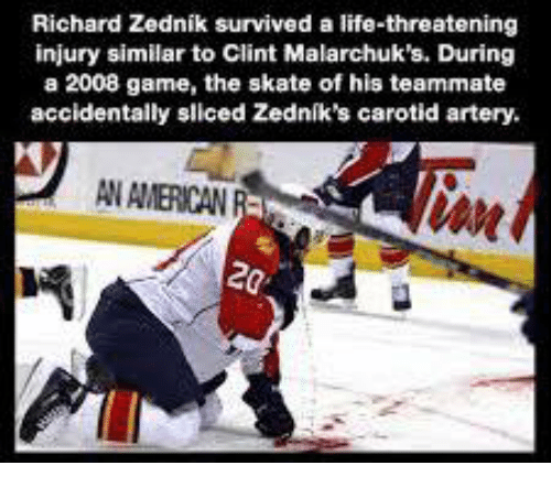 Richard Zednik Survived A Life Threatening Injury Similar To Clint
