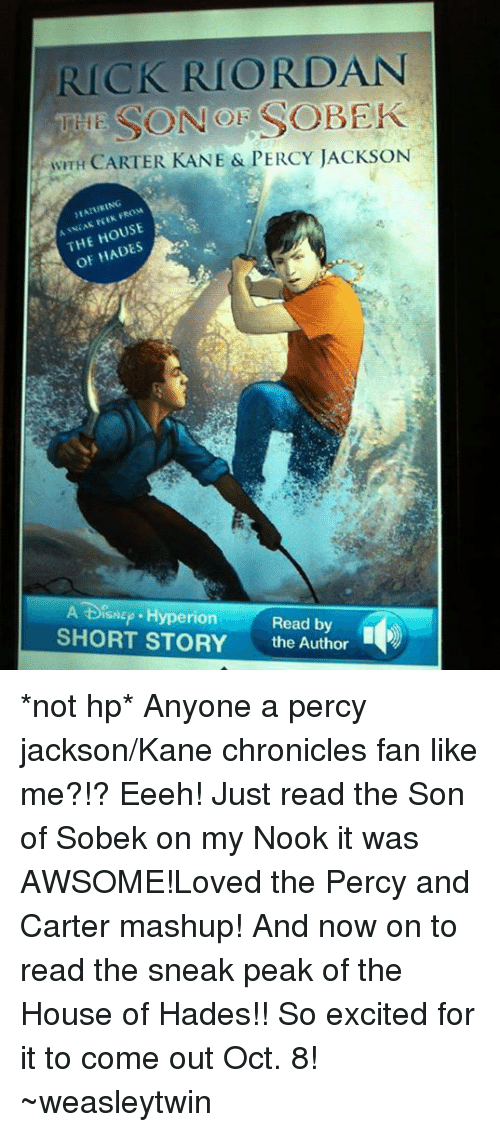memes excite and nook rick riordan son sobek with carter kane percy