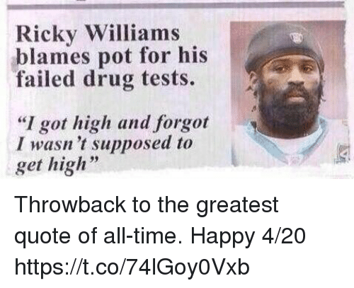 Ricky Williams Blames Pot For His Failed Drug Tests 2 Ai I Got High