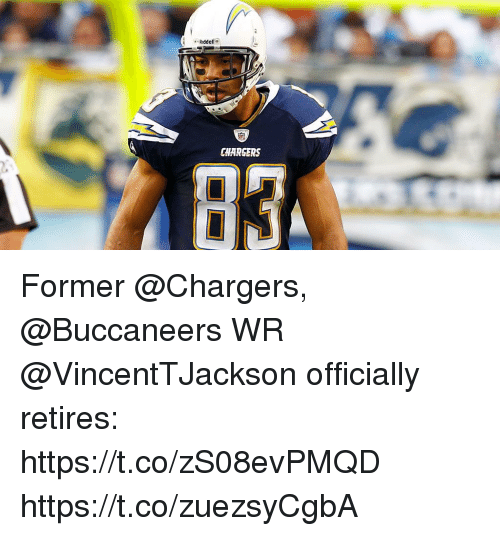Memes, Chargers, and 🤖: Riddell  CHARGERS  93 Former @Chargers, @Buccaneers WR @VincentTJackson officially retires: https://t.co/zS08evPMQD https://t.co/zuezsyCgbA