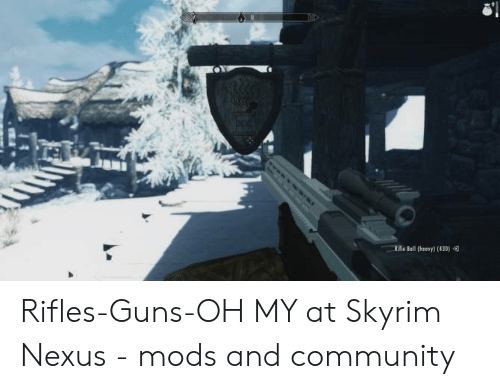 Riile Bell Theory 430 Rifles-Guns-Oh MY at Skyrim Nexus - Mods and
