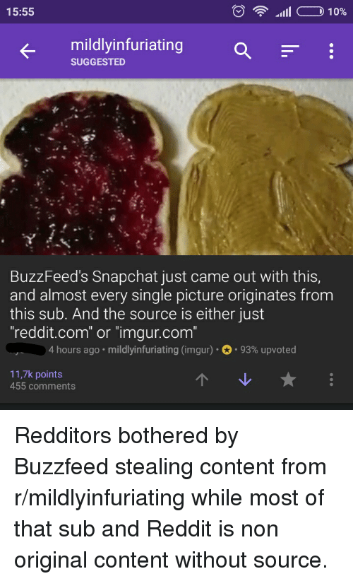 Rill CD 10% 1555 Mildly Infuriating SUGGESTED BuzzFeed's Snapchat