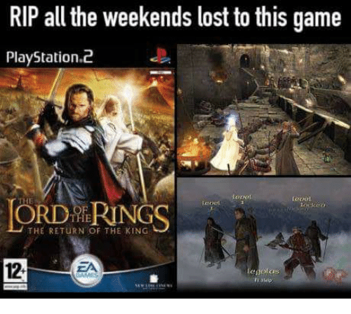 RIP All the Weekends Lost to This Game PlayStation2 Leoc ORD RINGS