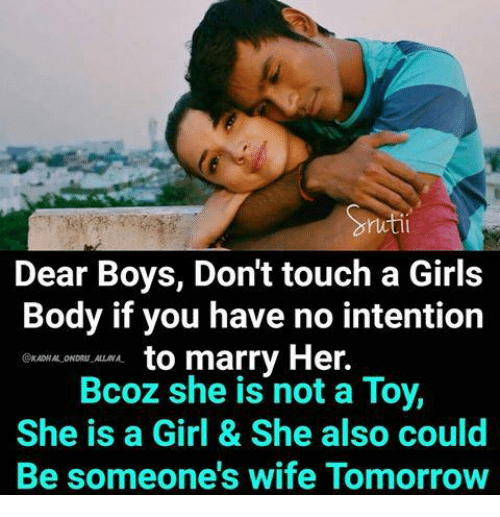 why boys like to touch girls body