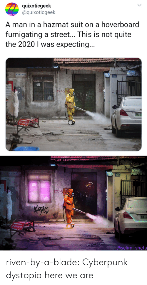 Blade, Tumblr, and Blog: riven-by-a-blade: Cyberpunk dystopia here we are