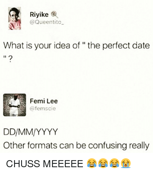 Riyike Tito What Is Your Idea Of The Perfect Date Femi Lee Afemscie