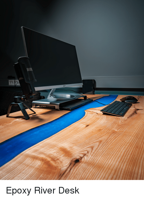 Desk, Acer, and River: RO  acer Epoxy River Desk