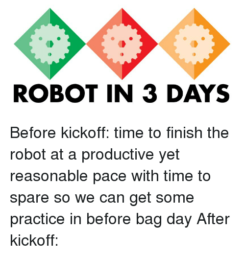 Time, Robot, and Can: ROBOT IN 3 DAYS