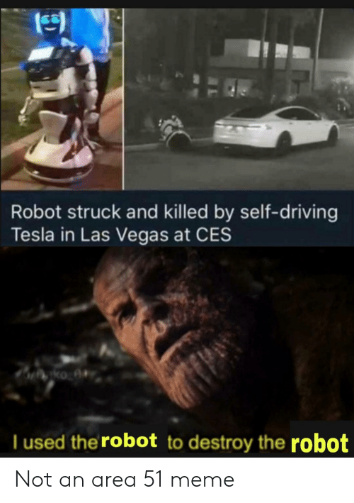 Robot Struck and Killed by Self-Driving Tesla in Las Vegas