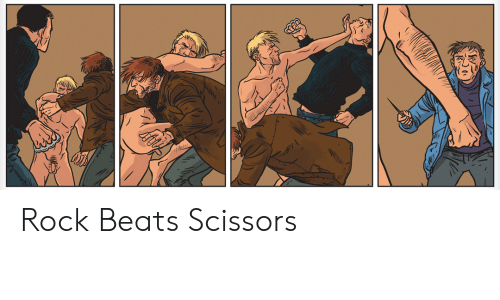 Beats, Rock, and Scissors: Rock Beats Scissors