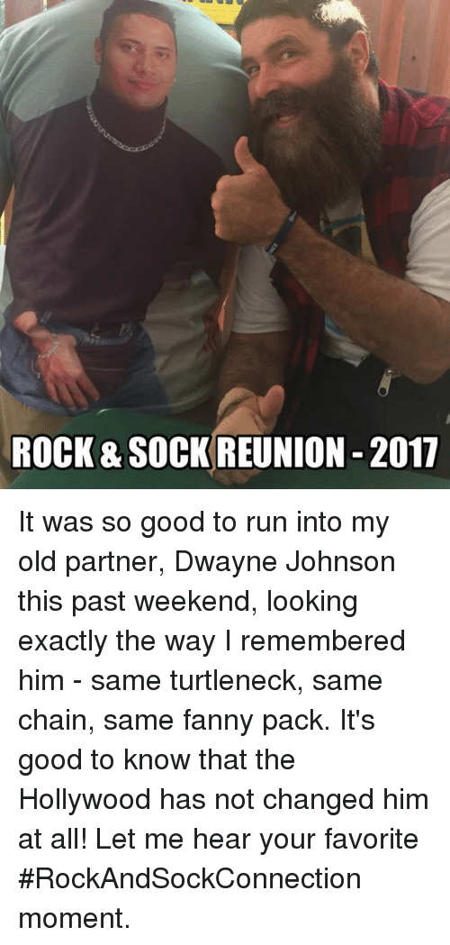 Rock Sock Reunion 2017 It Was So Good To Run Into My Old Partner