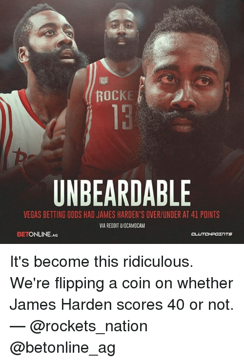 d95485f40db0 ROCKE UNBEARDABLE VEGAS BETTING ODDS HAD JAMES HARDEN S OVERUNDER AT ...
