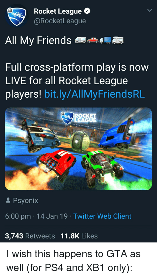 Rocket League All My Friends Full Cross-Platform Play Is Now LIVE