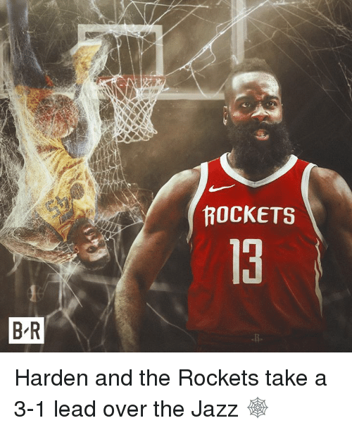Jazz, Rockets, and Lead: ROCKETS  13  B R Harden and the Rockets take a 3-1 lead over the Jazz 🕸️