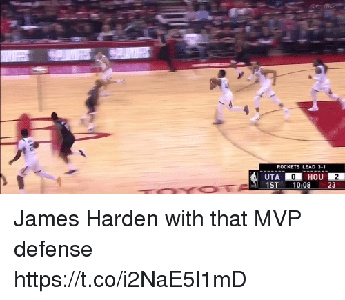 Sizzle: ROCKETS LEAD 3-1  1ST 10:08  23 James Harden with that MVP defense https://t.co/i2NaE5l1mD