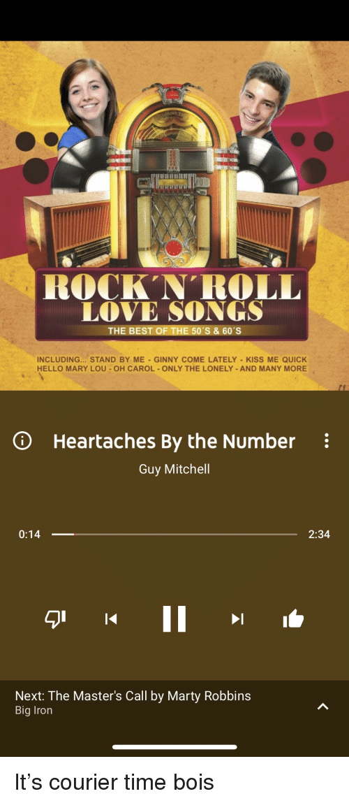 best rock and roll love songs